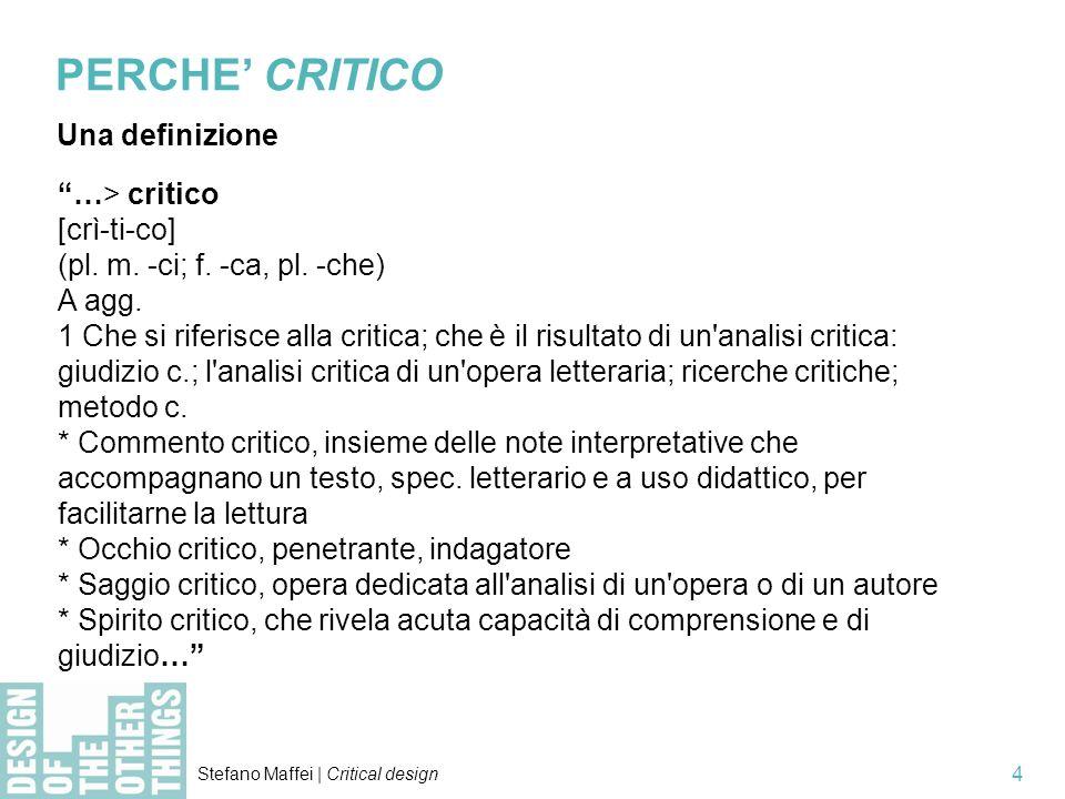 PERCHE' CRITICO Una definizione …> critico [crì-ti-co]